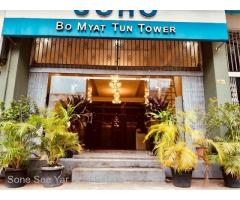 Bo Myat Tun Tower , ( RC 9 - 001319) , For Rent Condo @ Botahtaung Township.